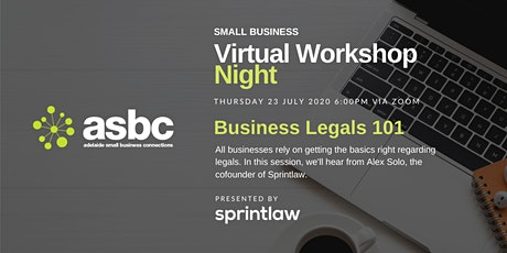 Virtual Workshop Night - Business Legals 101 tickets