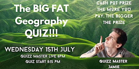 The BIG FAT Geography Quiz - Maps; Flags; Countries & Continents tickets