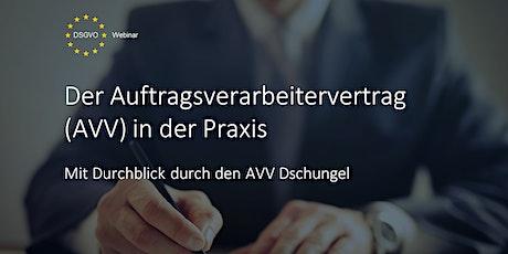 Der Auftragsverarbeitungsvertrag (AVV) in der Praxis Tickets