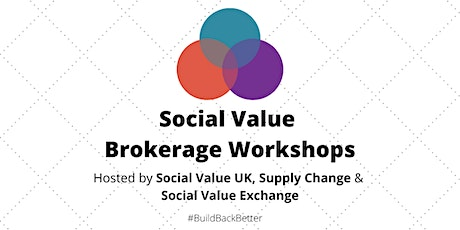 Use Social Value Brokerage to #BuildBackBetter - Part One tickets