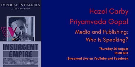 VERSO LIVE: Hazel Carby and Priyamvada Gopal tickets