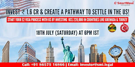 FREE Webinar - Invest 1.6 CR & Create a pathway to the USA! tickets