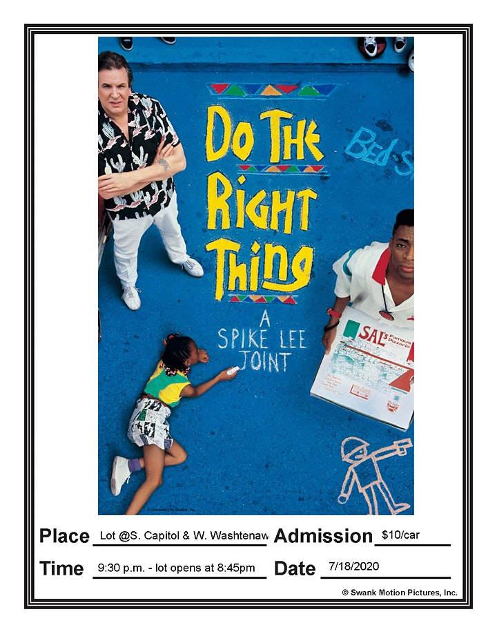 """Downtown Drive-In Movie """"Do the Right Thing"""" image"""