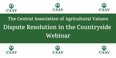 CAAV Webinar - Dispute Resolution in the Countryside entradas
