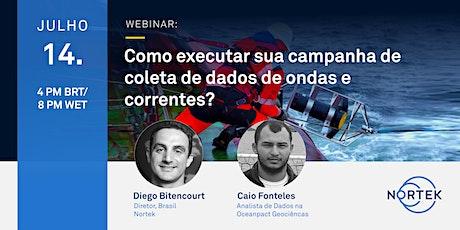 Como executar sua campanha de coleta de dados de ondas e correntes? ingressos