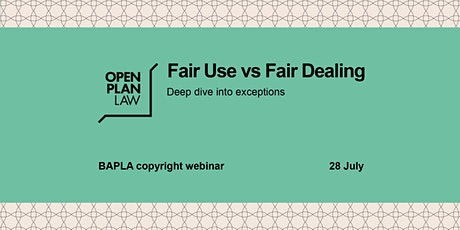Fair Use vs Fair Dealing tickets