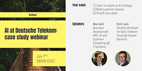 AI at Deutsche Telekom: case study webinar Tickets