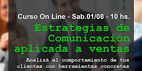 Estrategias de comunicación aplicadas a ventas entradas