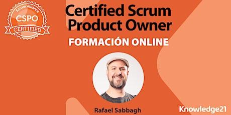 Certified Scrum Product Owner - CSPO + Gestión Ágil de Productos + MVP + Métricas (Online/España | 28, 29 y 30 de julio) biglietti
