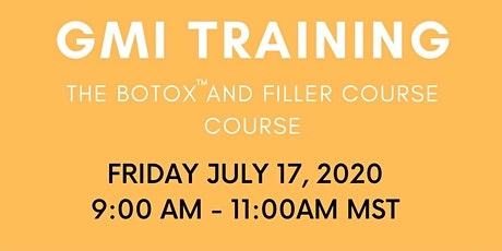 THE BOTOX AND FILLER COURSE COURSE. tickets