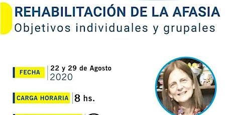 REHABILITACIÓN DE LA AFASIA : Objetivos individuales y grupales entradas