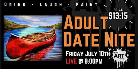 Date NIght Paint Night - the one with the Canoe tickets