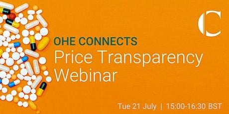 Price Transparency Webinar tickets