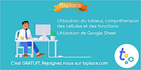 Utilisation du tableur, compréhension des fonctions à travers Google Sheet billets