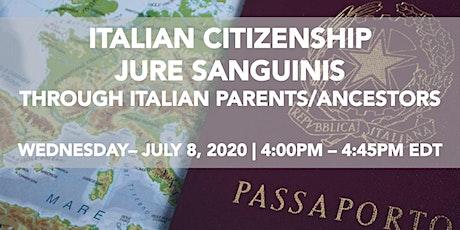 WEBINAR on Italian citizenship by Fleitas PLLC tickets
