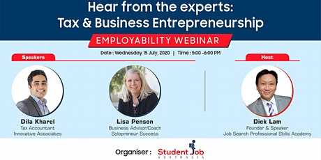 Hear from the Experts: Tax and Business Entrepreneurship tickets