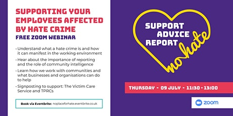 Webinar: Supporting your employees affected by hate crime tickets