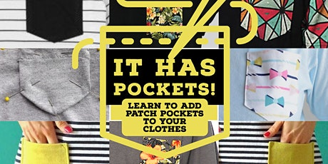 It has pockets! tickets