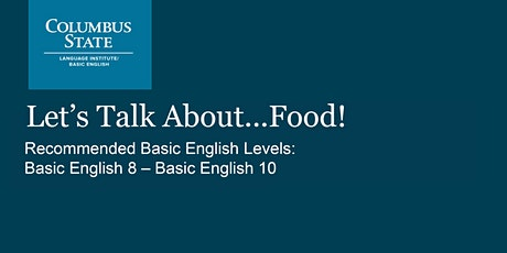 Let's Talk About...Food! tickets