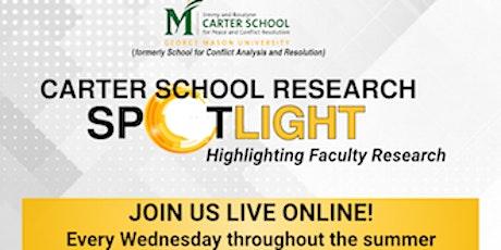 Carter School Research Spotlight & Sample Course Content tickets