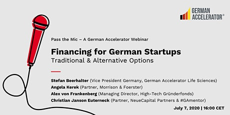 Financing for German Startups: Traditional & Alternative Options tickets