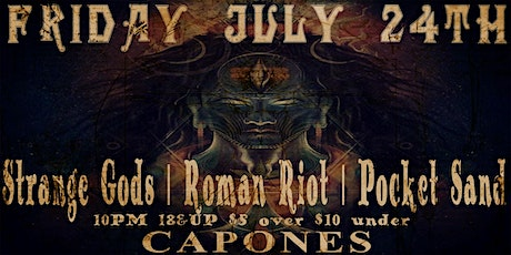Strange Gods with Roman Riot and Pocket Sand tickets