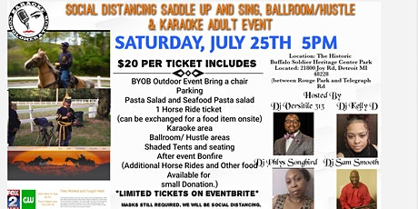Social Distance Saddle Up and Sing ,Ballroom Hustle and Karaoke tickets