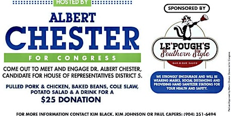 BBQ FOR A CAUSE sponsored by ALBERT CHESTER FOR CONGRESS tickets