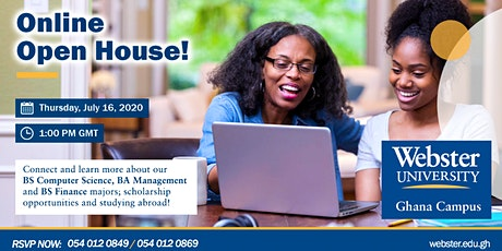 Online Open House (Computer Science, Management and Finance majors) tickets