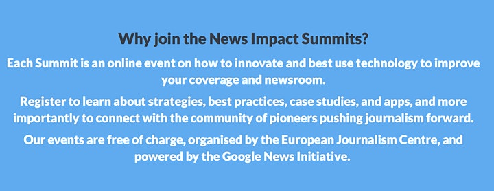 News Impact Summits Online: Audio & Voice image
