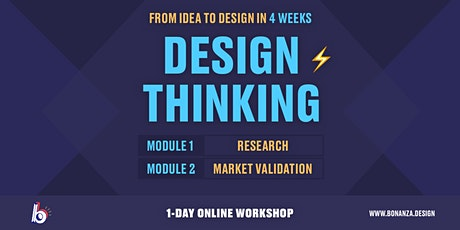 Design Thinking Workshop: Module 1-2: Research & Market Validation Tickets