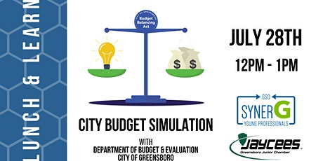 Lunch & Learn: City Budget Simulation tickets