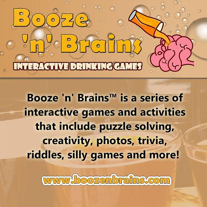 Booze n Brains UK Interactive Drinking Games image