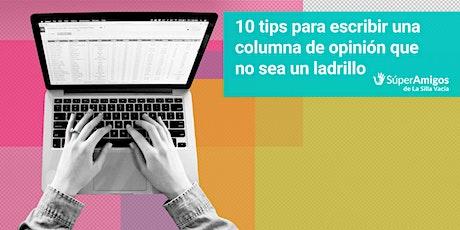 10 tips para escribir una columna de opinión que no sea un ladrillo entradas