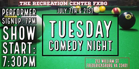 Comedy Night @ Rec Center FXBG tickets