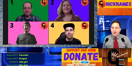 Comedy Friendzy Improv Game Show: Online Interactive Family Friendly tickets