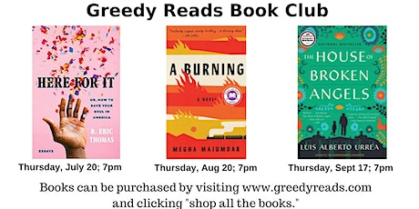 Greedy Reads book club - July 2020 tickets