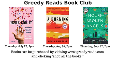 Greedy Reads book club - August 2020 tickets
