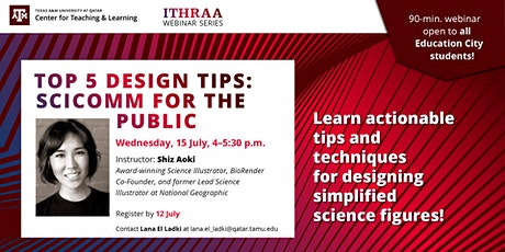 Top 5 Design Tips: SciComm for the Public (TS) tickets