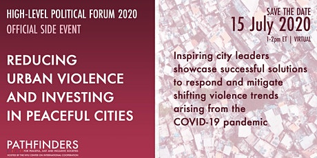HLPF 2020: Reducing Urban violence and investing in peaceful cities tickets
