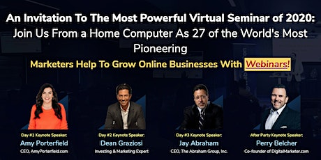 27 Top Marketing Experts Share How They've Sold 9-Figures Using Webinars tickets
