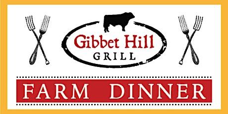 Gibbet Hill Farm Dinner • August 19, 2020 tickets