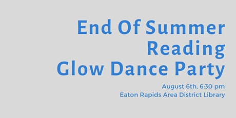 End of Summer Reading Glow Dance Party tickets