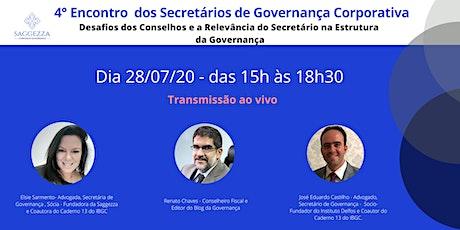 4° ENCONTRO DOS  SECRETÁRIOS DE  GOVERNANÇA bilhetes