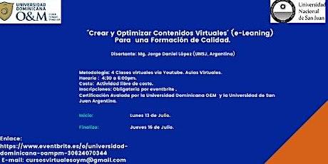 CURSO DE CAPACITACIÓN VIRTUAL PARA DOCENTES. entradas