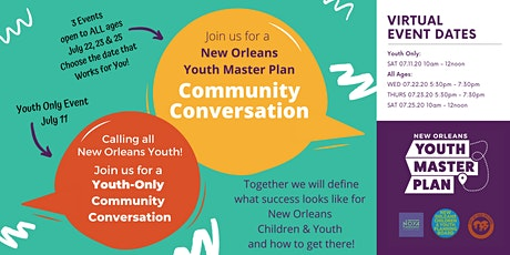 New Orleans Youth Master Plan Community Conversations tickets