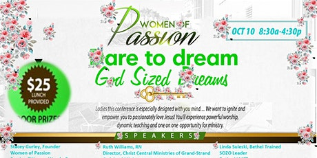 "Women of Passion Present ""Dare to Dream God-Sized Dreams"" tickets"