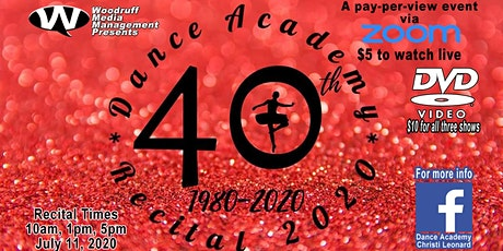 Dance Academy Recital 2020 1 PM tickets