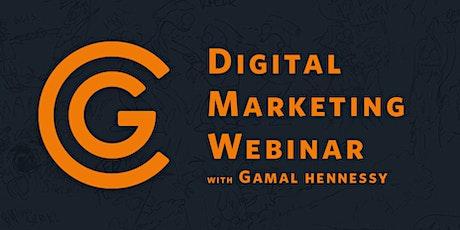 Digital Marketing Webinar with Gamal Hennessy, GlobalComix tickets