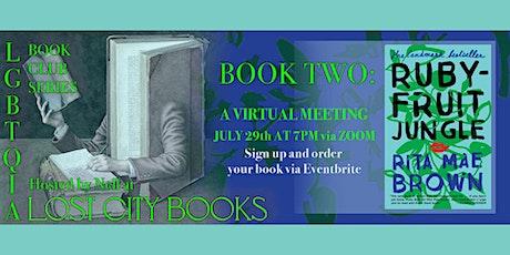 LGBTQIA Book Club reads Rubyfruit Jungle tickets
